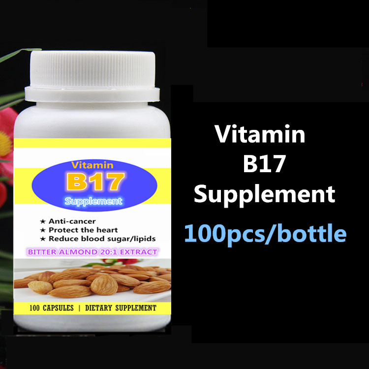 Vitamin B17 Supplement Bitter Almond 20:1 Extract Bitter Apricot Seed,Anti-Cancer Protect Heart Reduce Blood Sugar and Lipids vitamin b17 caps bitter apricot kernel extract anti aging anti cancer 100pcs bottle