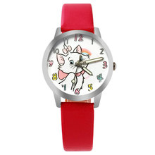 2017 Best Selling, New Brand Fashion Relogio Women Watch Ladies Vintage Flower Watch Cat Leather Quartz Clock Casual Dress Reloj