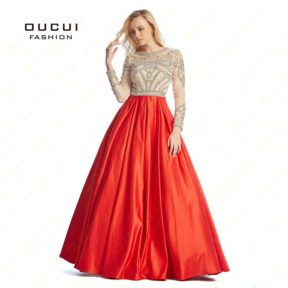 US $11.11 Ballkleid Rot Farbe Sexy Nähe Zurück Hand Lange Abendkleid  Partei Formale Kleider OL1112856 Echt Fotos langarm Volle kristallgown