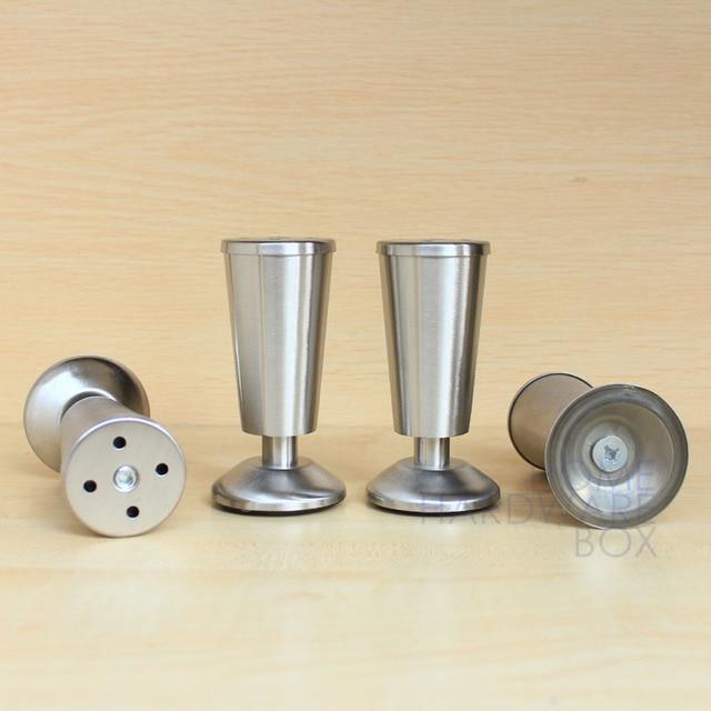 4 stücke metall edelstahl beine möbel küchenschrank füße 4 1/2 ...