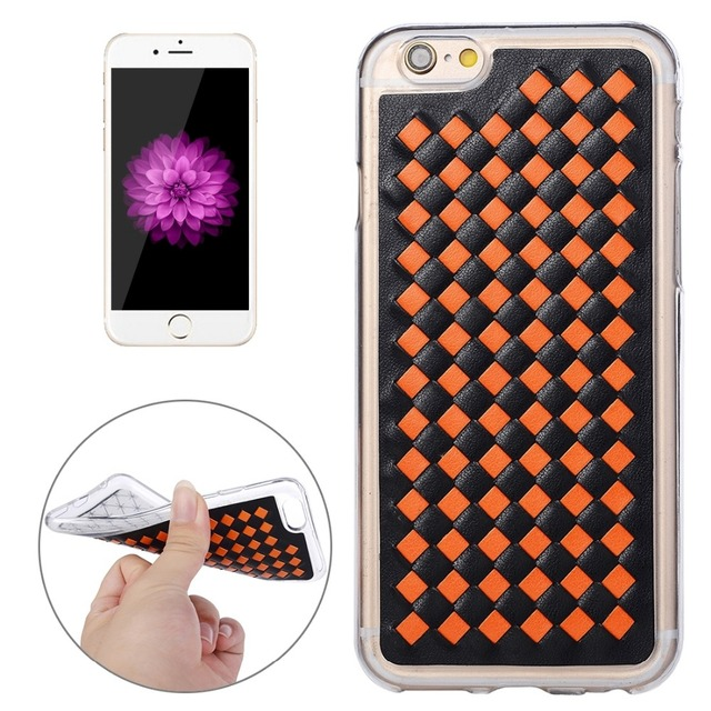 For Iphone 6 6s Knit Pattern Pu Leather Tpu Protective Case