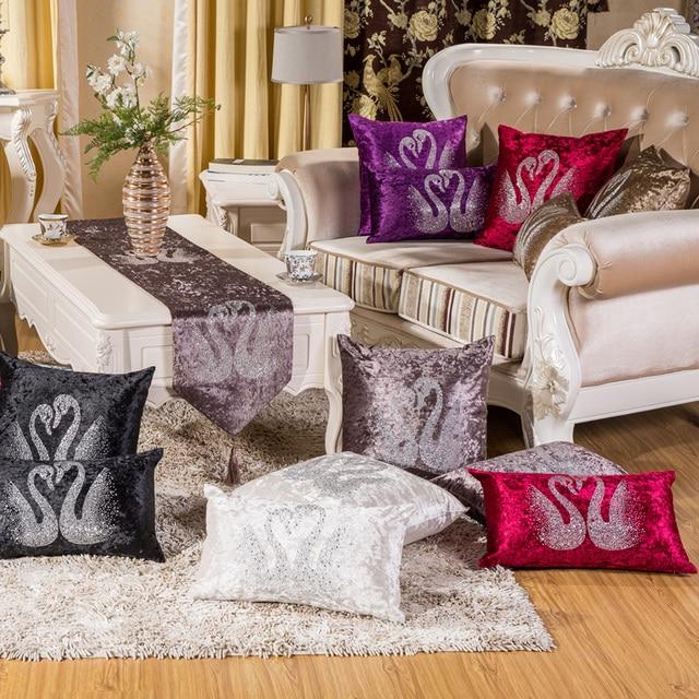 Vintage Velvet Rhinestone Cushion Cover Throw Pillow Cover Home Gorgeous Rhinestone Decorative Pillows