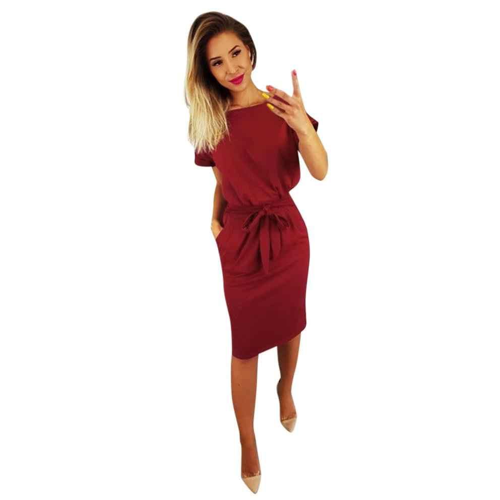 קיץ שמלת 2018 נשים מזדמן בציר שמלת תחבושת Bodycon קצר שרוול שמלות קיצי vestido שמלות קיצית Slim 7.3 # י. ל.
