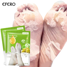EFERO Whitening Foot Peel Mask Exfoliating Foot Mask Feet Skin Care Moisturizing Anti Cracked Foot Spa Pedicure Socks 2Pack=4Pcs skin care for dry hard cracked skin moisturising spa gel silicone socks rejuvenation foot mask softex