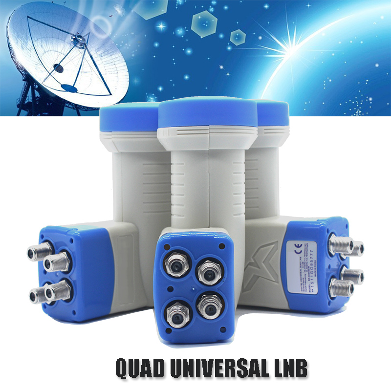 Nois Figure 0.1dB Universal Quad LNB High Quality Full HD Digital Digital Universal Ku Band Quad LNB արբանյակային հեռուստատեսության ստացման համար