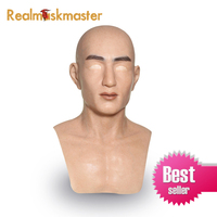 Realmaskmaster realistic artificial halloween silicone mask Male Disguise latex adult full face party masks Cosplay Props