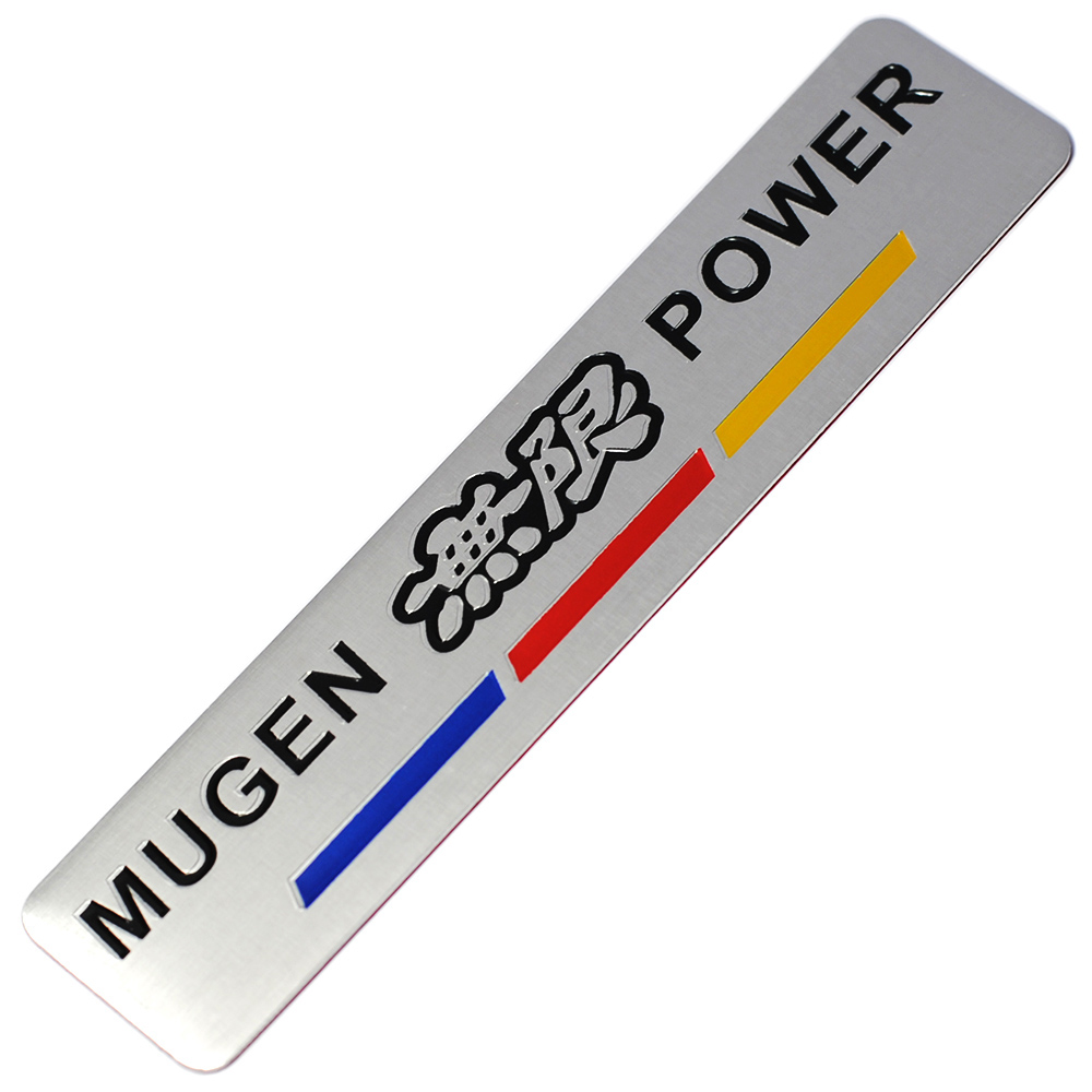 Image 5 - Mugen Power Car Sticker Emblem Rear Badge Aluminum Chrome Decal Car Styling For Car Trunk For Honda Civic Accord CRV-in Car Stickers from Automobiles & Motorcycles