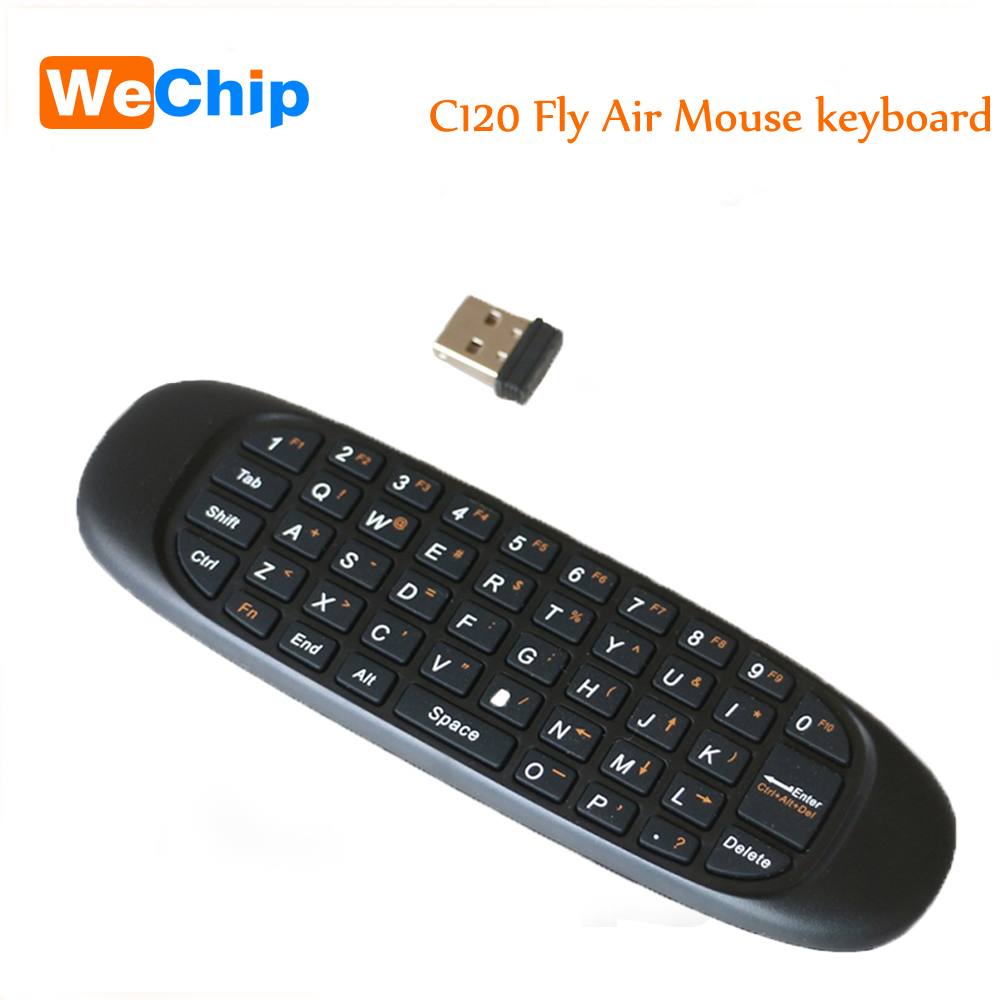 C120 Giroscopio Inalámbrico De Control Remoto Mini Usb De 2,4 Ghz Para Pc Smart Tv Android Tv Box Tv Dongle Teclado