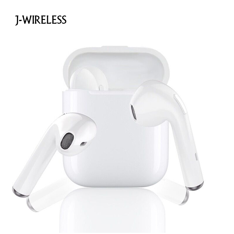 JWIRELESS Bluetooth Headphones Mini with Mic In Ear Gaming Wireless Earphones Stereo Handsfree Ture Wireless Earbuds Smartphone