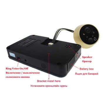 Topvico Peephole Door Camera 4.3 Inch Color Screen With Electronic Doorbell LED Lights Video Door Viewer Video-eye Home Security