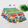 3pcs/lot lovely cartoon minions Children's underwear kids boy underwear briefs panties for girls boy boxers shorts for 3-11T