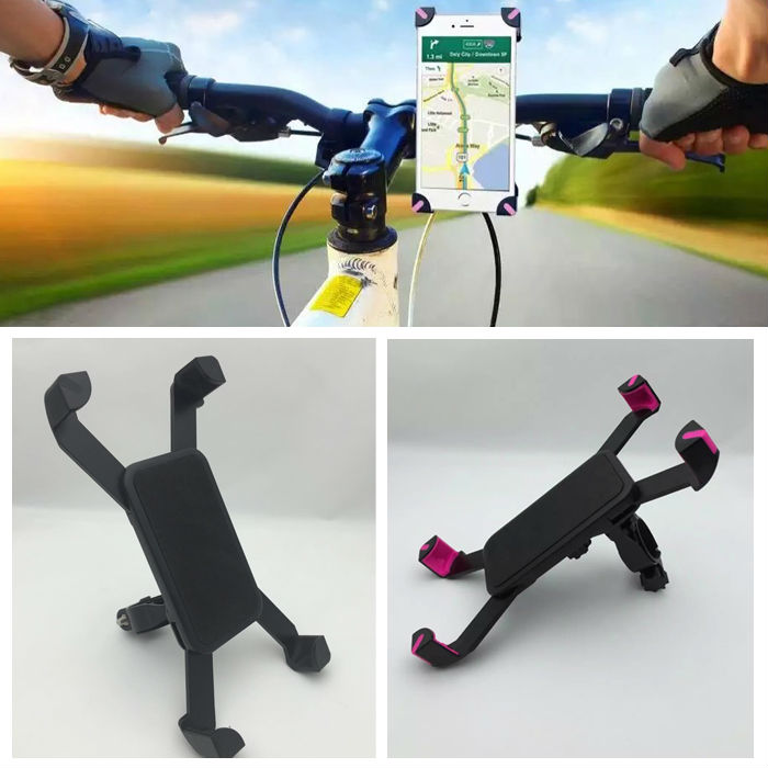 universal de la motocicleta mtb manillar de la bicicleta mount holder para ipod