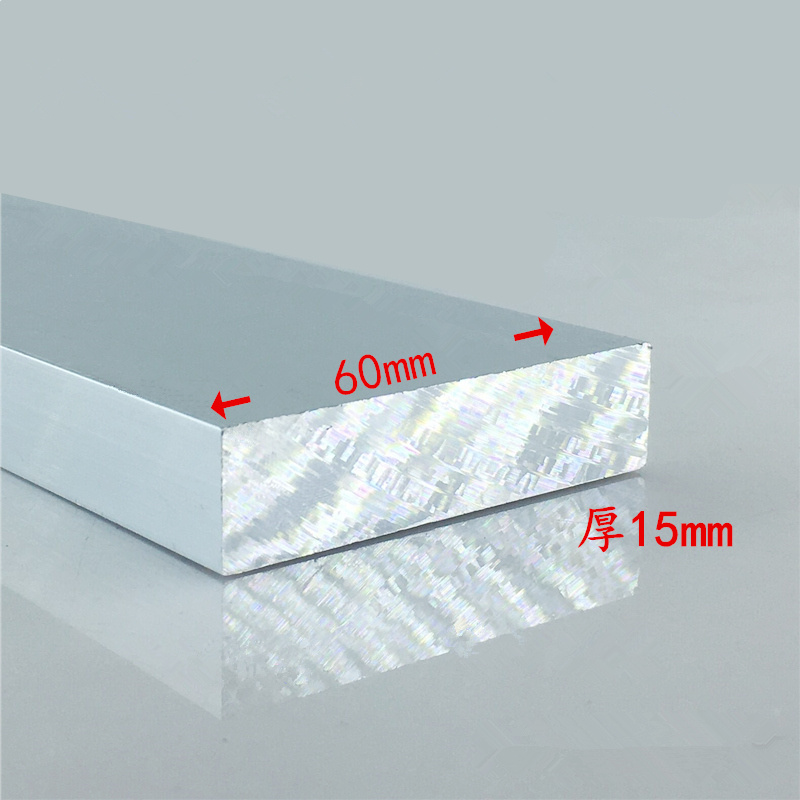 Aluminium Alloy Plate 15mmx60mm Article Aluminum 6063-T5 Oxidation Width 60mm Thickness 15mm Length 100mm 1pcs