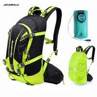 ANMEILU 2L Water Bag 20L Waterproof Camping Backpack Sports Rucksacks Travels Bags Hiking Cycling Climbing Backpack Camelback