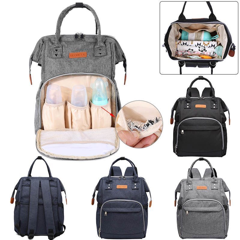 Mummy Diaper Bag Pure Large Capacity Maternity Handbag Mother Travel Backpack Pregnant Women Baby Nursing Bag Storage Diaper Bag