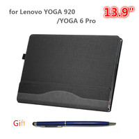 Laptop Case for Lenovo YOGA 920 13.9 Inch Notebook Sleeve for YOGA 6 Pro PU Leather Protective Cover Stylus As Gift