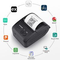Portable Mini Bluetooth Printer Thermal Receipt Printer Pocket Ticket Machine For Mobile Phone Android iOS PC 58mm