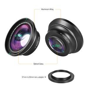 Image 2 - 30mm 37mm 0.39X Lens Full HD geniş açı makro Lens için Ordro Andoer dijital Video kamera kamera