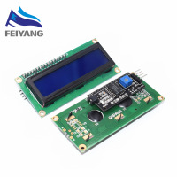 1PCS SAMIORE ROBOT LCD1602+I2C LCD 1602 module Blue screen IIC/I2C for LCD1602 Adapter plate