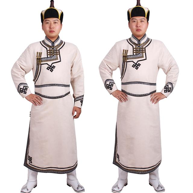 Minoría china Hombres ropas vestidas Mongolia danza cosplay traje Mongol Envío Libre le traje mongol Mongol prenda