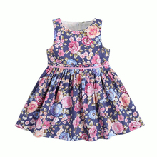 2019 Summer Girls Clothing Cute Style Short Sleeve Floral Print Baby Girls Clothes Dress For Girl Formal Party Dress 2-10T Years retro style short sleeve round collar loose floral print dress for women