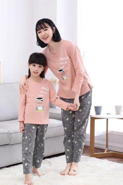 2017 Autumn Men Women Pajama Sets Print Pink Girls Sleepwear Pajamas Ladies Homewear For Women Nightgown Pyjamas Women Hombre