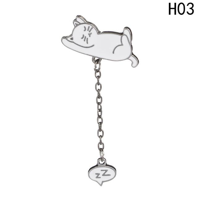 New Bonito do Sono Animal Broche Little Pink Pig Feliz Gato Elefante Animal Esmalte Lindo Pinos Mini Dos Desenhos Animados Broche