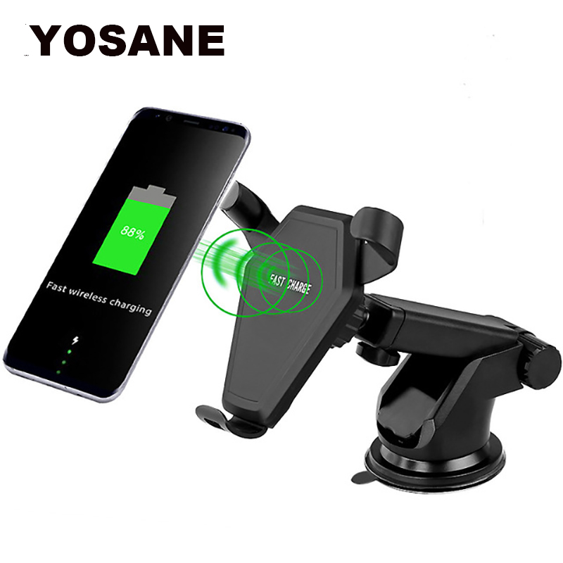 Wireless Car Charger Mount Air Vent Windshield Phone Charging Holder For Samsung Galaxy Note 5 S6 S7 Edge S8 S9 iPhone X 8 Plus