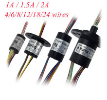 Free Shipping Conductive Slip Ring 4/6/8/12/18/24 Wires 1/1.5/2A Diameter 8.5/12.5/15.5/22mm Low Current Spare Part