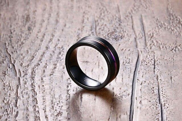Фото кольца мужские вольфрамовые стильные ювелирные украшения для