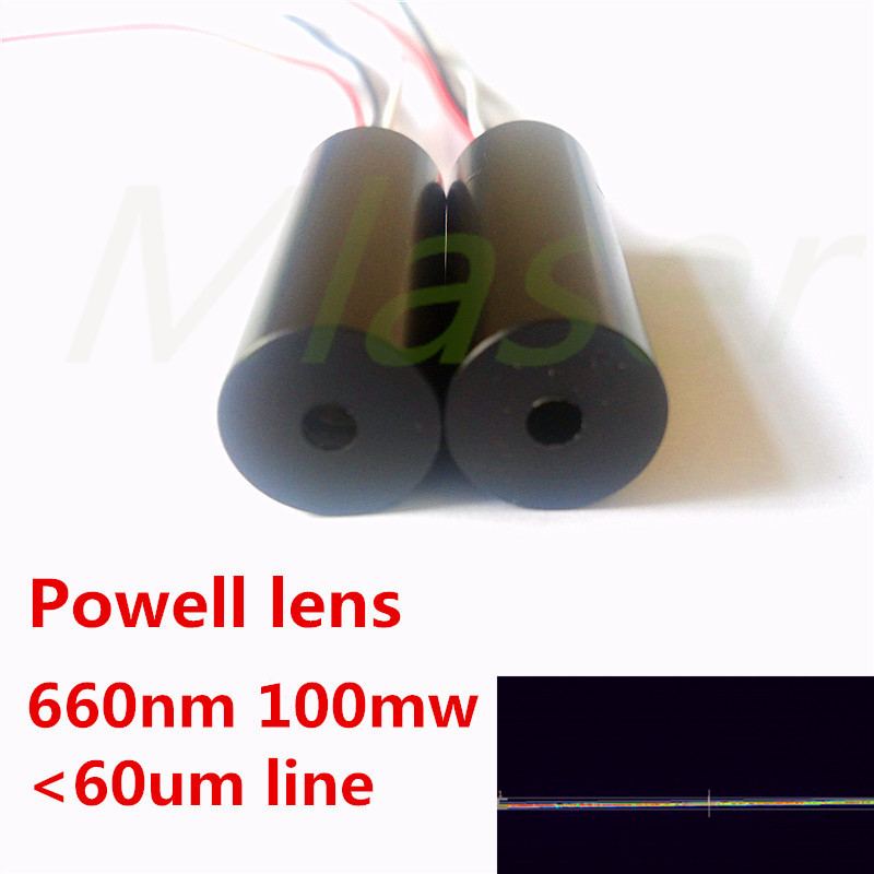 Powell line lens 660nm 100mw laser module for industrial-grade high-precision scanning high quality southern laser cast line instrument marking device 4lines ml313 the laser level