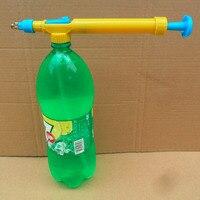 Mini brinquedo armas garrafas de suco interface plástico trole arma pulverizador cabeça pressão água pulverização cabeça suprimentos jardinagem water sprayer gun water gun sprayer sport sport -