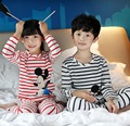 2016 Spring childrens pajamas kids pyjamas loungwear home set indoor clothing Long sleeve clothes pants Cartoon pijamas