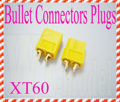 F00486 1 Pair XT60 Bullet Connectors Plugs For RC Battery