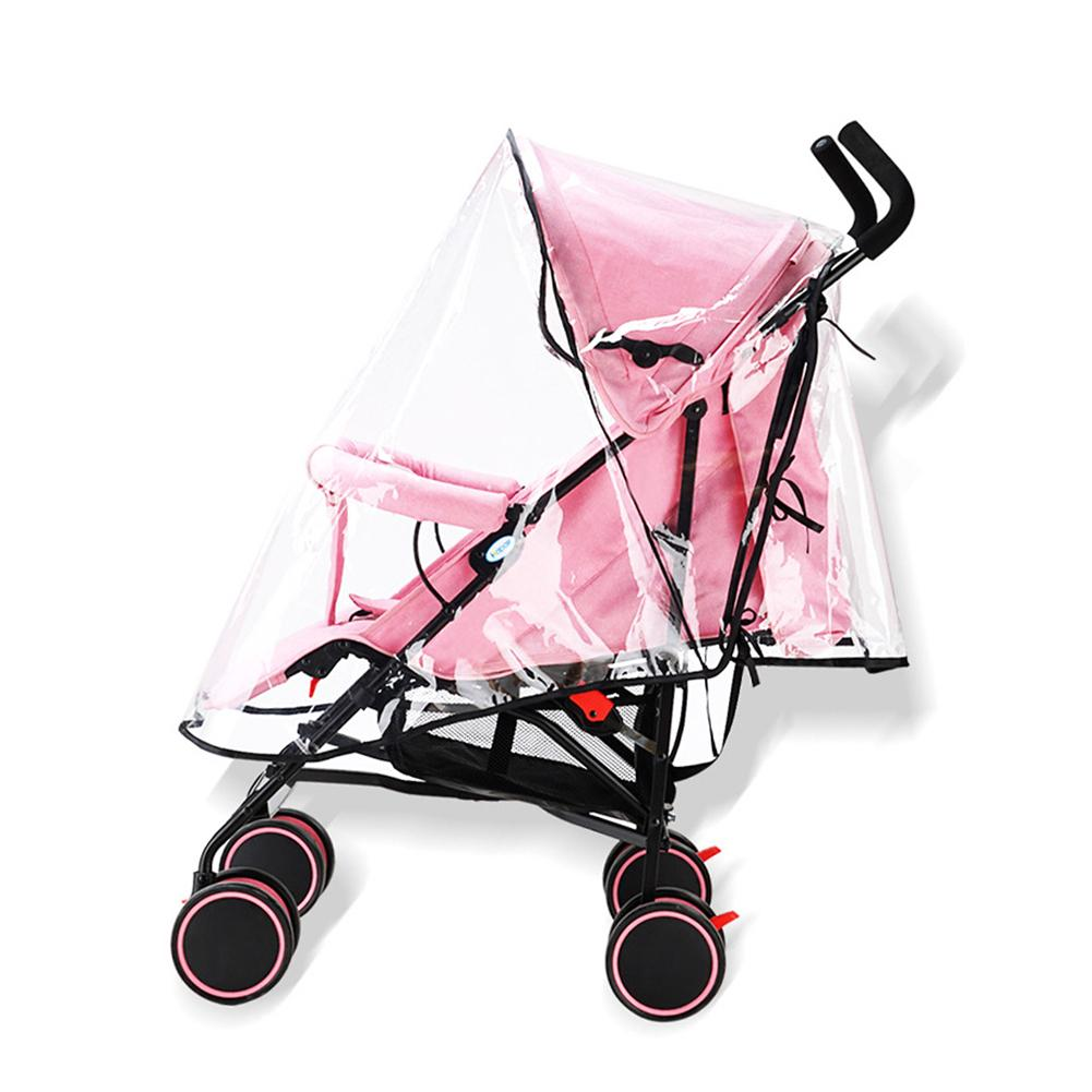Rain Cover Stroller Universal Baby Travel Transparent Stroller Rain Cover Waterproof Windproof Protection Outdoor Stroller Cover