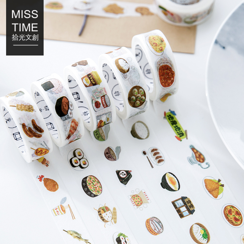 1.5CM*7M Delicious Food Style Vitality Cuisine Washi Tape Adhesive Tape DIY Scrapbooking Sticker Label Masking Tape m cuisine