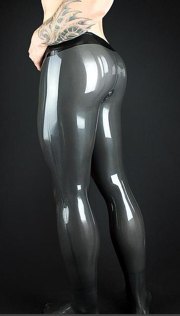 Latex Trousers With Penis Sheath Anus Condom  Customized