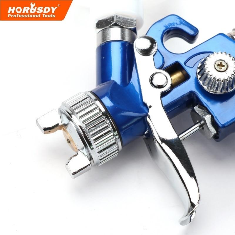 HORUSDY Spray Gun Air Mini Paint Gun H 2000 Hvlp 0 8 MM Spray Gun Working Pressure Professional HVLP Air Brush Pneumatic Tools in Pneumatic Tools from Tools