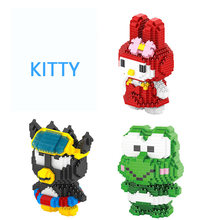 Classic japan cartoon image Kitty micro diamond building block kt cat Melody rabbit Keroppi Frog XO penguin nanoblock toys(China)