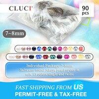 CLUCI 90 шт. 7 8 мм радуга Akoya устрицы с жемчугом смешать 13 цветов большой пакет для жемчувечерние один и близнецы жемчуг в Oyster