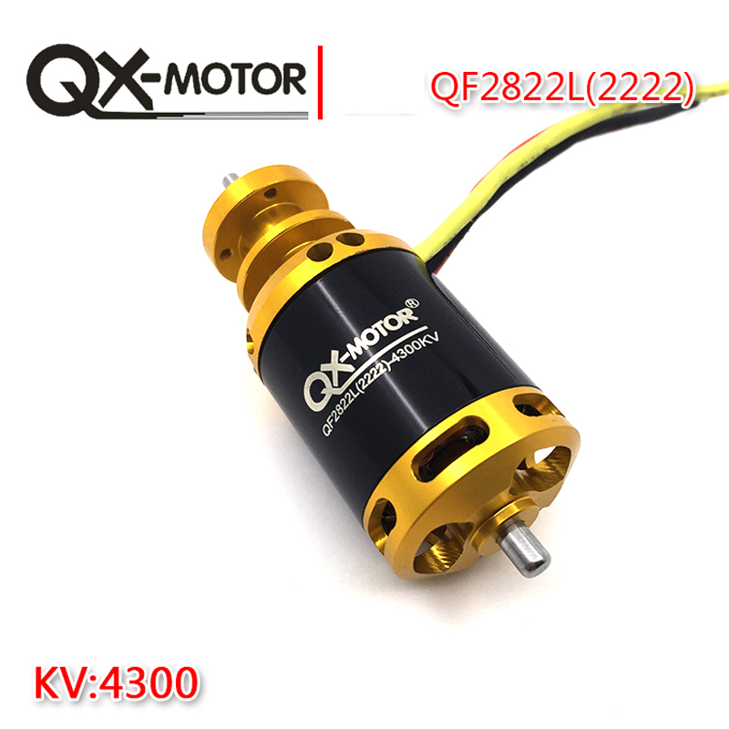QX-Motor Brand New QF2822L(2222)-4300KV Brushless Motor Drone Motor For 64mm Ducted Fan EDF DIY Airplane Model Wholesale