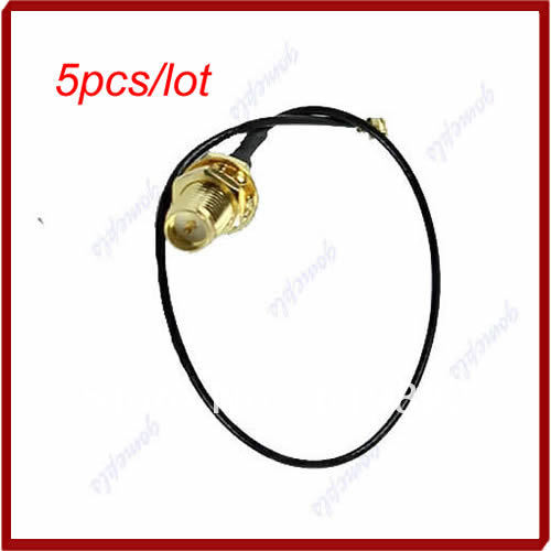 Y92 5pcs/lot U.FL Mini PCI to RP-SMA Antenna WiFi Cable Signal Connector Network Adapter ...