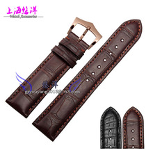 The crocodile leather strap Adapter super 20 mm dark brown complex functions in a timely manner