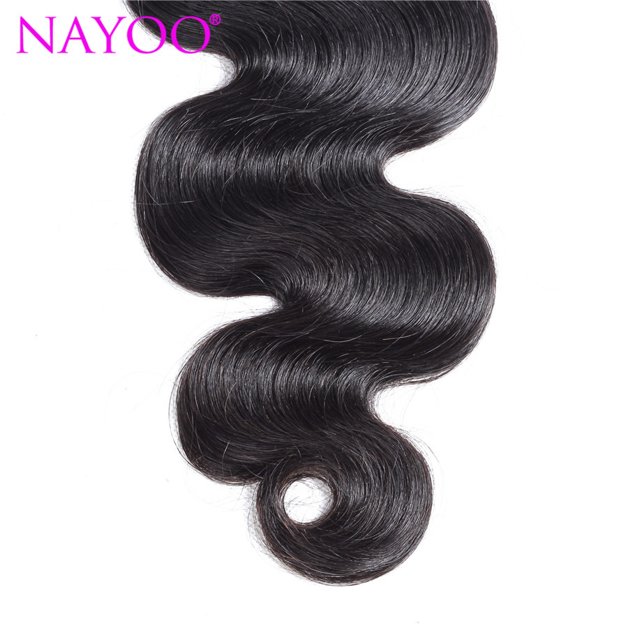 NAYOO Πακέτα ανθρώπινων μαλλιών σώματος - Ανθρώπινα μαλλιά (για μαύρο) - Φωτογραφία 5