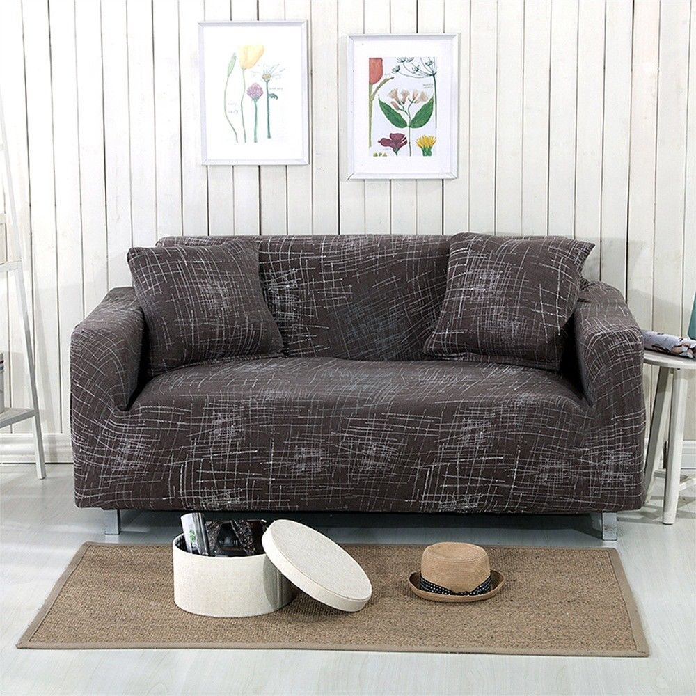 Elastic Sofa Cover 3 Seat L Shape Stretch Slipcover Couch ...