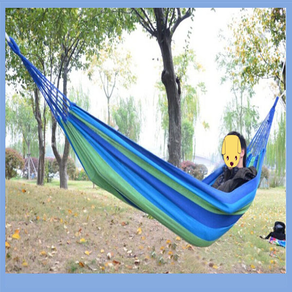 Canvas Outdoor Hammock Single And Double Hammock Garden Swing Set Picnic  Mat K.Z.L OUTDOORS