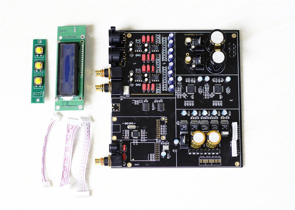 Q7 Dual AK4497 AK4497EQ Parallel Audio DAC Decoder Assembled board Support  192k/24bit DSD256