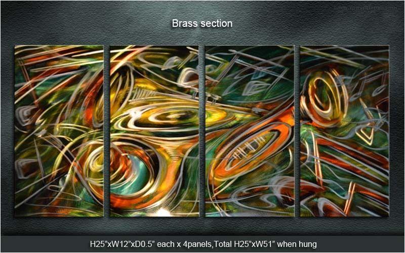 Original Classic Metal Art Abstract Wall Painting Brass