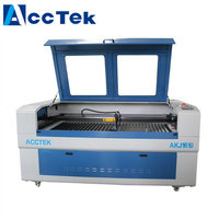 China AccTek 80W 100W 130W wood pen laser engraving machine with up down table