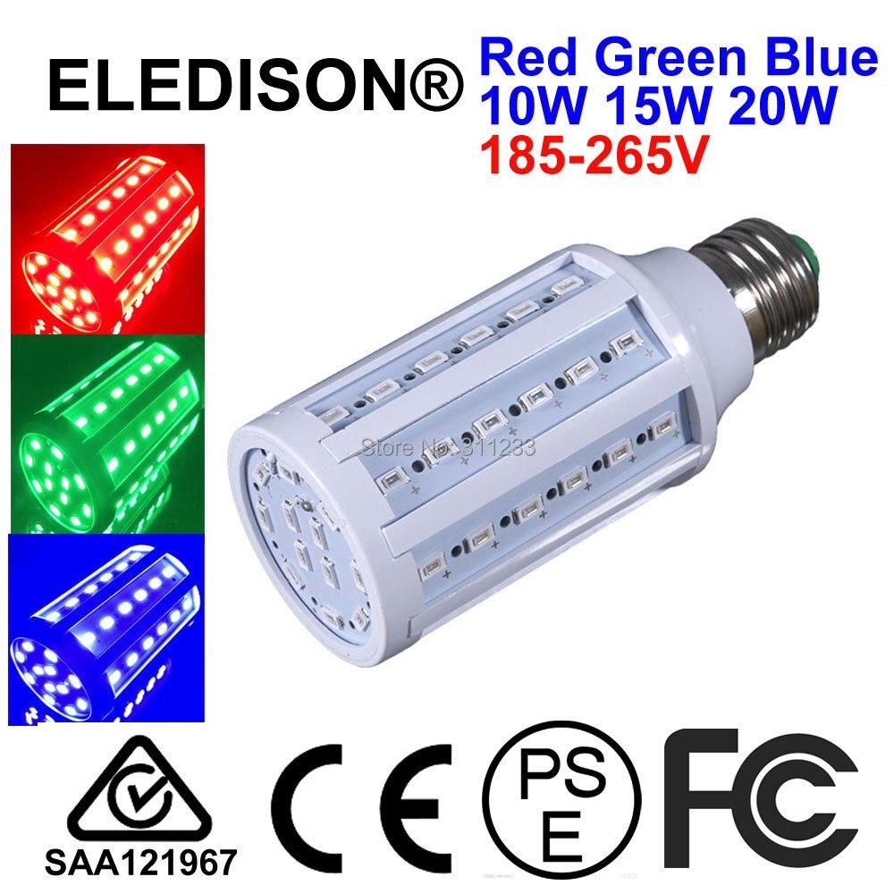 Красный зеленый синий RGB светодиодный Глобус лампа E27 B22 Светодиодный светильник 20 Вт 220 В 110 в 12 В 24 в 36 В светодиодный светильник Ночной клуб ...
